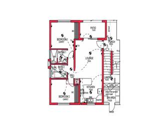 2 Bed North Entry
