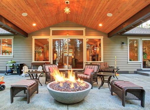 Create a cosy outdoor entertainment area this winter