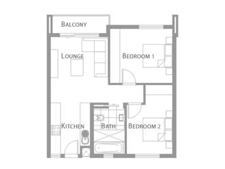 A - 2 Bedroom Unit