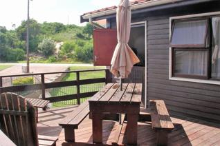 The comfortable two bedroom wooden home ...