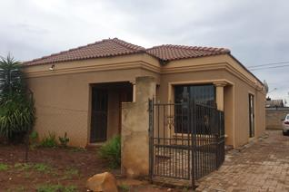 The three bedroom house is located in Sebokeng zone 13 , it offers a dining room and a lounge, with contemporary finishes.