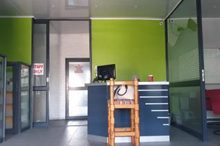 Stunning entrance door  2 Spacious Aluminum offices  Huge reception area Two separate ...