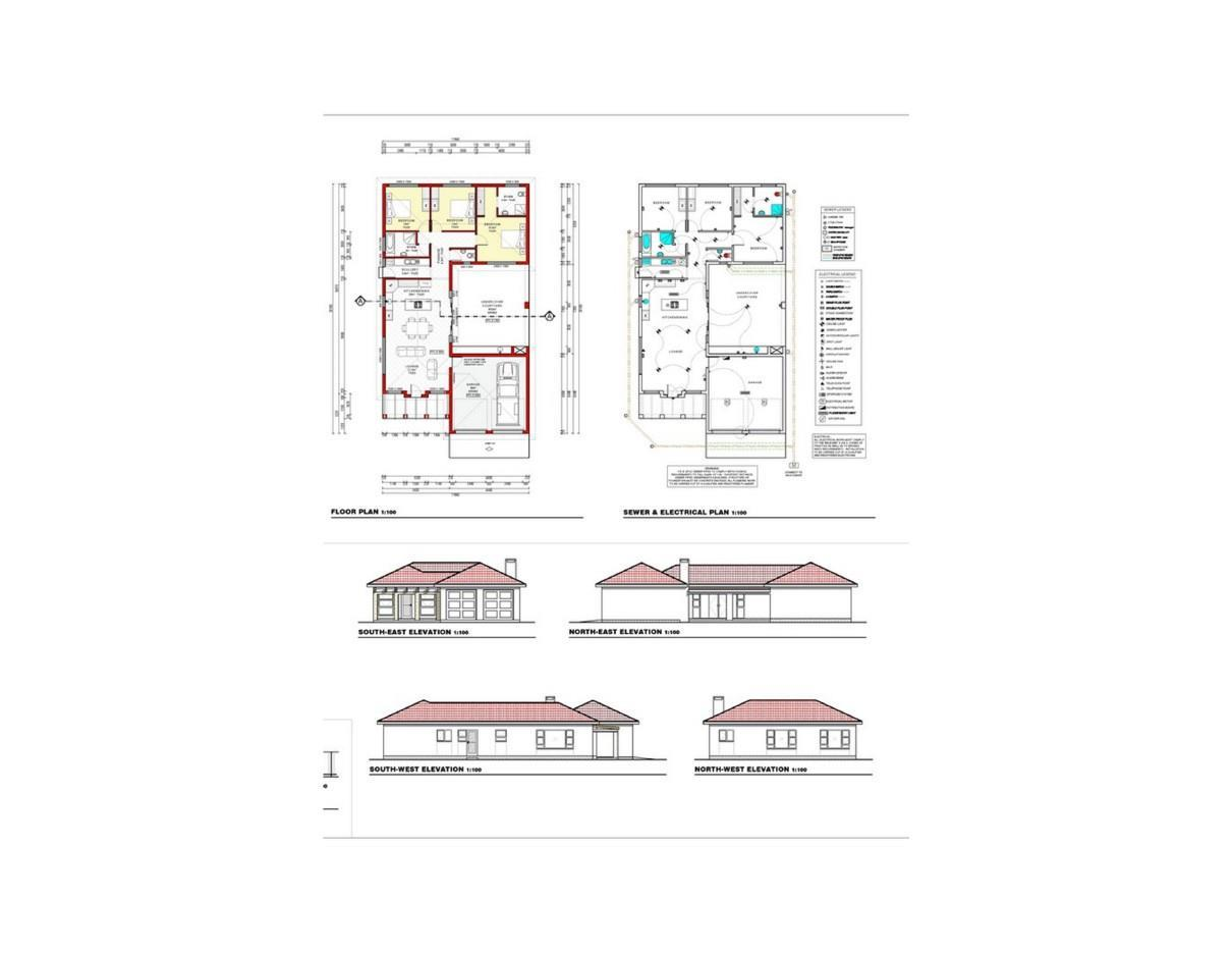 3 Bedroom House For Sale In Mile 4 Ext 1 Electrical Plan