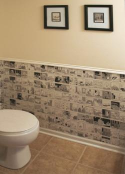 Cartoon Wallpaper For A Guest Loo Decor Lifestyle