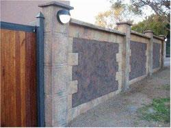 Which Wall Works Best Garden Outdoor Lifestyle - brick wall designs with palisade fencing