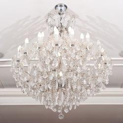 To Thoroughly Clean Your Chandelier Remove All The Pieces And Carefully Place Them In A Plastic Colander Rinse Under Hot Water Add Little Bit Of